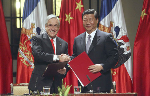 Vice-President Xi signs 9 agreements in Chile