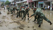 Relief works under way in flood-hit E China