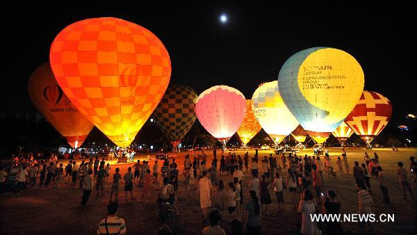 Hot Air Balloon Challenge held in Haikou