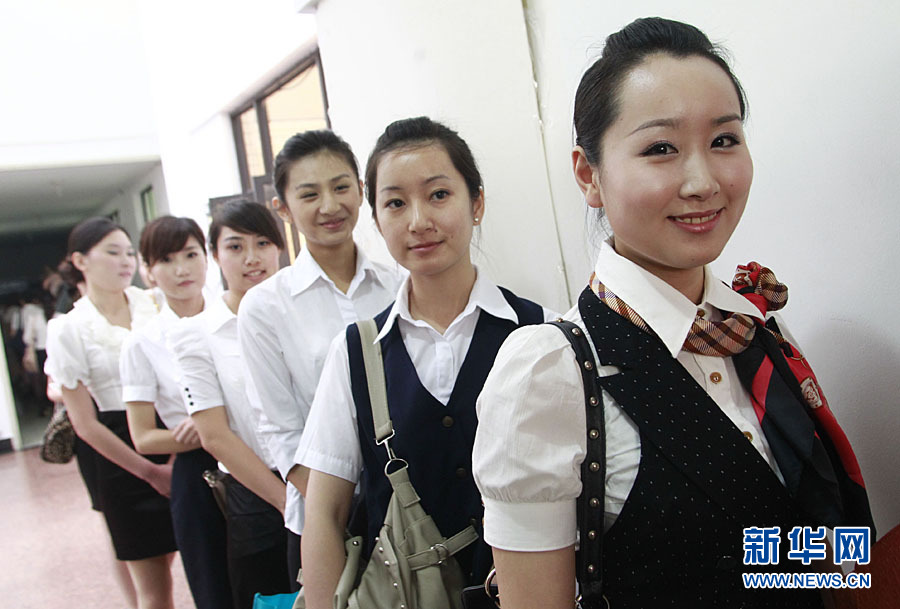 China Eastern Airlines recruits flight attendants in Shanghai