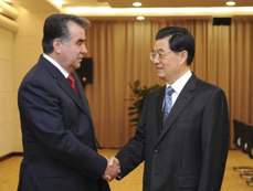 Chinese, Tajik presidents meet on ties in Astana