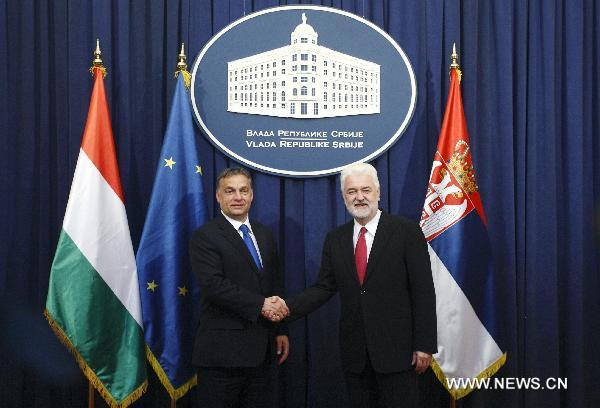 Hungarian PM urges Serbia to work harder towards EU membership