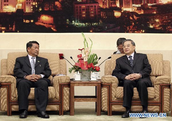 Vice chairman of CPPCC meets with delegation from Myanmar