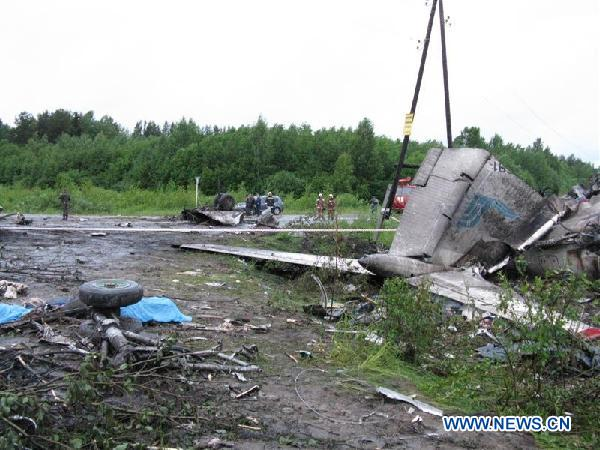 Plane crash kills 44, injures 8 in northern Russia