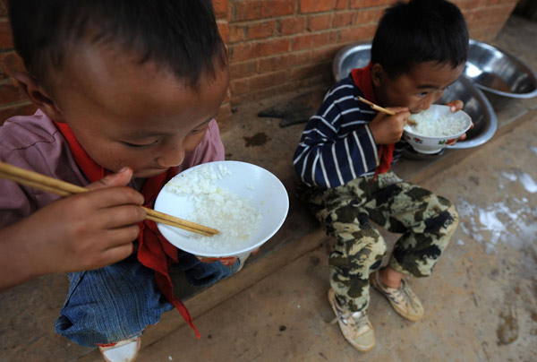 Children in poor areas chronically underfed