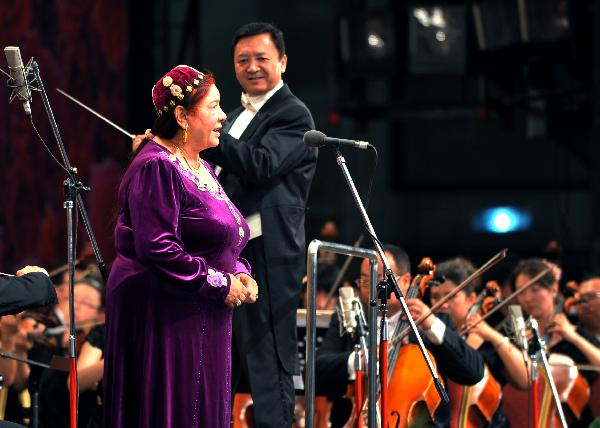 Concert celebrates 90th anniversary of CPC founding in Urumqi, China's Xinjiang