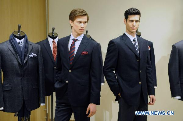 Gieves &Hawkes collections displayed at HK fashion