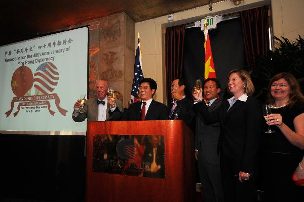 China-U.S. Ping Pong Diplomacy celebrated in U.S.