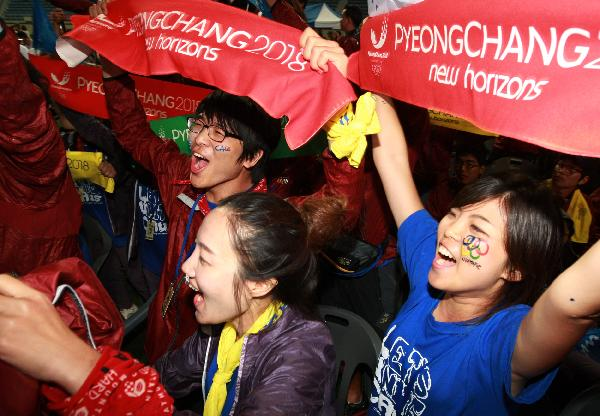 Pyeongchang celebrates winning Winter Olympic bid
