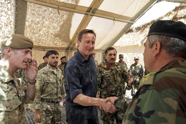 Britain to withdraw 500 troops from Afghanistan by end 2012: Cameron