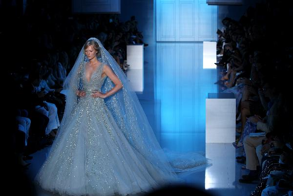 Lebanese designer Elie Saab holds fashion show in Paris
