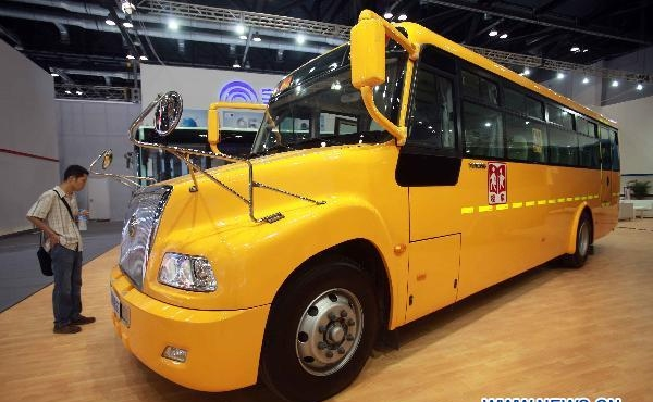 U.S. style school bus shown at auto expo in Beijing