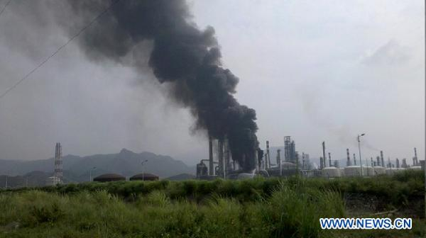 Fire at south China oil refinery, no casualties
