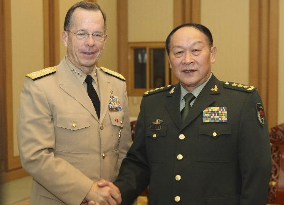 Chinese defense minister meets with top U.S. military officer