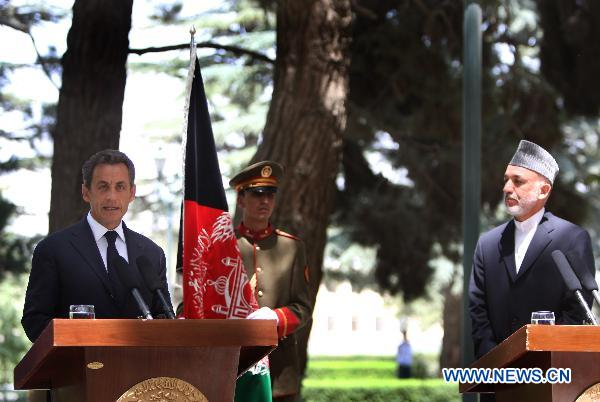 France to continue supporting Afghanistan after troops' withdrawal: Sarkozy