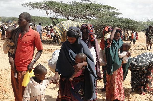 People forced to leave home as drought hits Mogadishu, Somalia