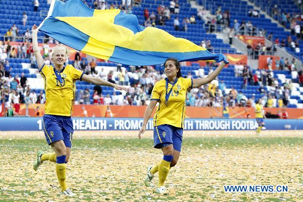 Sweden beats France 2-1 to finish third at FIFA Women World Cup 2011