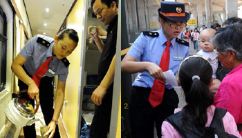 Good service in T27 train from Beijing to Lhasa, China's Tibet
