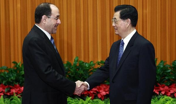 Chinese President Hu meets with Iraqi Prime Minister al-Maliki