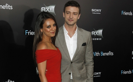"Mila Kunis attends premiere for ""Friends With Benefits"" in New York"