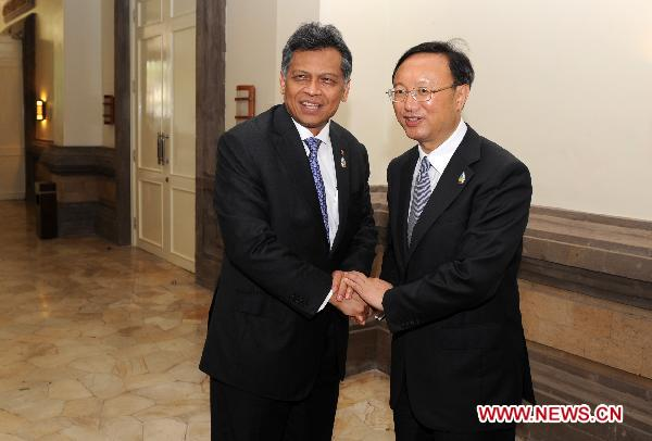 Chinese FM meets with ASEAN Secretary-General