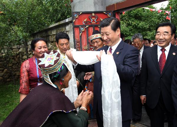 Chinese vice president visits southeastern Tibet's Nyingchi area