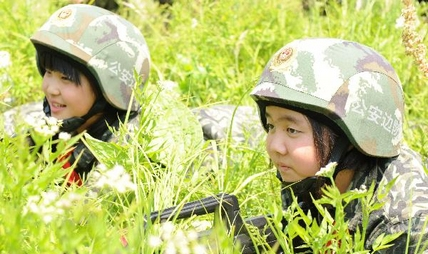 Pupils enjoy summer military training in Jinan, China's Shandong