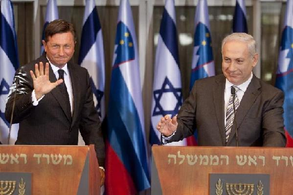 Slovenian prime minister meets with his Israeli counterpart in Jerusalem