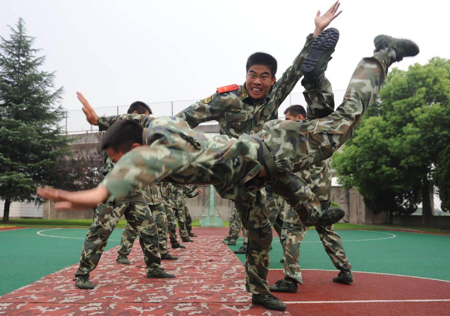 Soldiers take part in drill in NE China