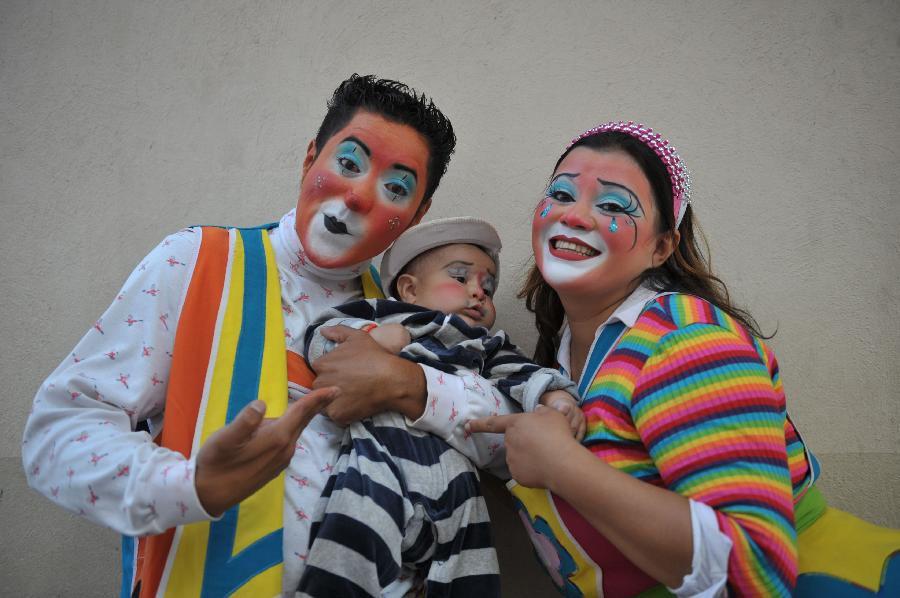 Clown convention in Guatemala City