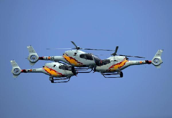 Aerobatic patrol of Spanish Air Force