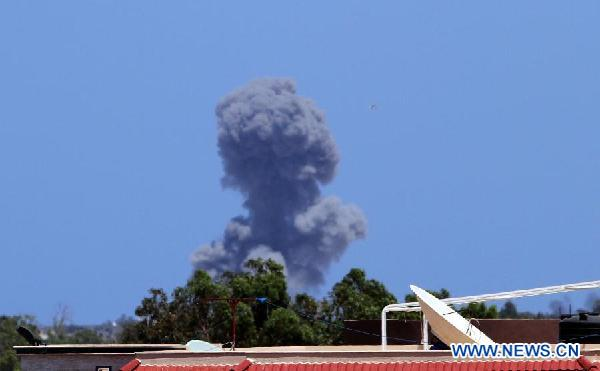 NATO conducts air strike in Tripoli