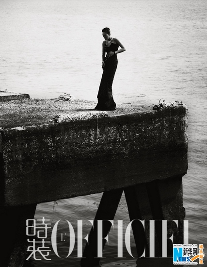 Actress Gong Li poses forL'Officiel Magazine. (Xinhua Photo)