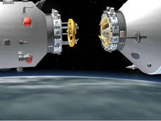 Schematic images: China's first space docking mission