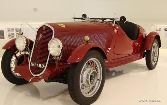 "A Fiat 508 S MM car made in 1934 is shown on the exhibition ""the Origins of Myth"" during the preview for journalist held in the Enzo Ferrari Home Museum in Modena, Italy, on March 9, 2012. After making its preview for journalist on Friday, the museum and the exhibition would be officially open to the public on March 10. The museum complex is built on the basis of the old house where Enzo Ferrari was born in 1898. (Xinhua/Wang Yunjia)"