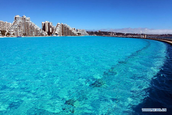 Largest Pool In Chile >> World S Largest Swimming Pool In Chile 6 People S Daily