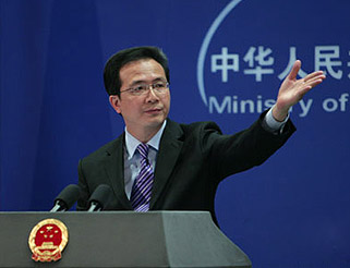 Hong Lei,a Chinese Foreign Ministry spokesman, held a press conference on May 25.