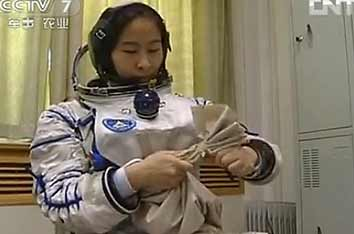 Private room designed for China's female astronaut