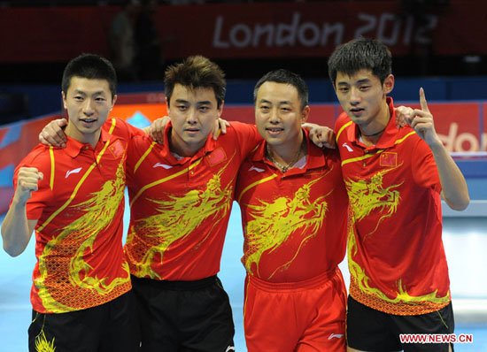China wins table tennis men's team Olympic gold (2 ...