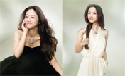 Tang Wei models for jewelry designed by herself