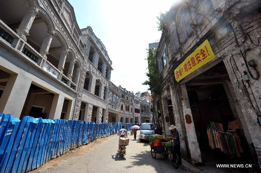 Historic street reconstructed in Hainan province