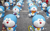 100 Doraemon models exhibited in HK