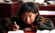 Kids' impressive smiles in Tibet