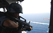 Special operation members conduct anti-piracy training