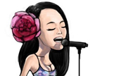 """The Voice of China"" in cartoon"