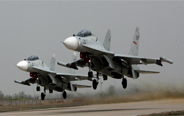 Chinese naval air force holds combat drill