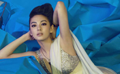 Chinese actress Zhang Yuqi's graceful poses