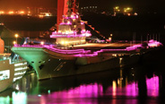 China's first aircraft carrier celebrates National Day