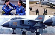 Female pilots of FBC-1 fighters in training