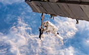 Photos of spacewalking astronauts
